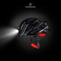 ROCKBROS ZN1001 Bike Light Helmet - Helm Sepeda dengan Lampu - BLACK