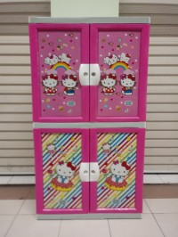 Lemari Plastik / Kabinet Plastik-ApollyStar -Hello Kitty NEW - 2TD