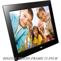 Bingkai foto pajang Digital Frame 15inc high resolution merk Lods