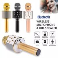 Mic Microphone KTV WS858 Wster Bluetooth Wireless Smule Speaker