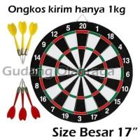 DART GAME BESAR 17 inch / Papan Dart Board Besar Ukuran 43 cm