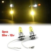 2pcs H3 YELLOW 3000K Lampu Halogen Pijar H 3 Warna Kuning Foglamp