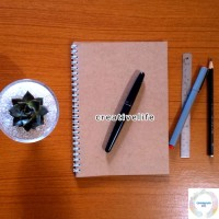 Buku Kraft A5 Notebook Spiral Dotted Graph Lined Blank | Sketchbook