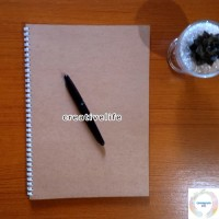 Notebook / Sketch book Spiral DOT Grid / GRAPH A4 | Buku tulis
