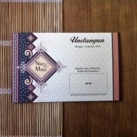 Undangan Pernikahan Vintage Batik (88185)