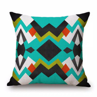 Sarung Bantal Sofa 45 x 45 / Cushion Cover geometris colours