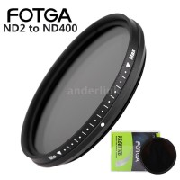 FOTGA 58mm Slim Fader Variable ND Filter ND2 To ND400