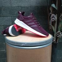Sepatu Original Adidas Questar Ride Maroon Burgundy / Running Wanita