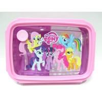 My Little Pony Tempat Kotak Makan Bekal + Sendok Anak Perempuan Pink