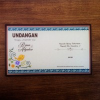 Undangan Pernikahan Floral Vintage Hijau Silver (88188)