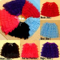 Rok Tutu Mini Skirt Dress Anak Pesta Ballet Balet Panggung Party