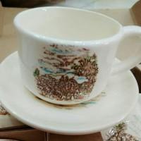 Gelas set keramik/Tea set/Kopi set keramik Classic set 8 pcs