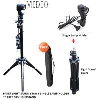 Paket LIght Stand 85cm + Single Lamp Holder