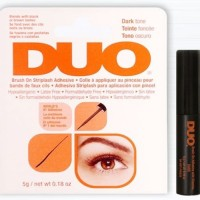 DUO Adhesive Latex Free BRUSH ON Adhesive - DARK TONE (kotak oranye)