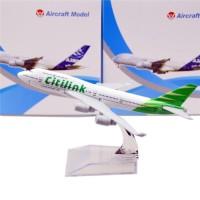 Diecast Die Cast Miniatur Pesawat Planes Maskapai Citilink Airlines