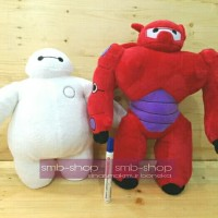 BONEKA BAYMAX WHITE AND RED 35CM YELVO