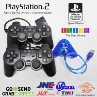 STIK PS2 OP ELITE HITAM + USB CONVERTER DOUBLE