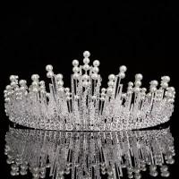 TIARA CROWN WEDDING PERNIKAHAN PESTA PRINCESS DIAMONDS RHINESTONE I