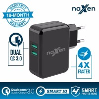 Naxen Qualcomm Quick Charge 3.0 2-Port USB Xiaomi Oppo Travel Charger