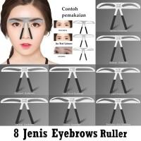 JBS Penggaris Cetakan Pembentuk Alis permanen eyebrow ruler K089