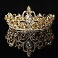 TIARA CROWN WEDDING PERNIKAHAN PESTA PRINCESS DIAMONDS RHINESTONE L