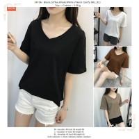 White,Black,Coffe V Neck Comfy (M,L,XL) Top -34156