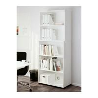 IKEA FLUNS File majalah set isi 4, putih