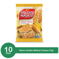 Nissin Golden Malkist Crackers Grilled Cheese 10 x 27gr