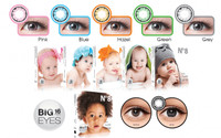 Softlens x2 ice no.8 baby eyes BIG EYES 16MM ( N8 , no8 )