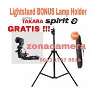 Lights Stand + Lamp Holder Lampu Studio Strobist Ring Light Tripod Set