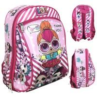 Tas Ransel Sekolah TK LOL Surprise Buncit 3D - Pink