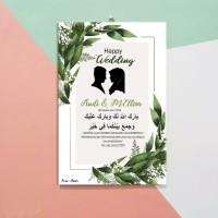 CSW02 - KADO PERNIKAHAN WEDDING HIASAN DINDING CUSTOM NAMA WISUDA
