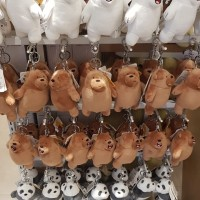 Miniso We Bare Bears Gantungan Kunci Boneka Badan 14cm