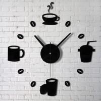 Jam Dinding Akrilik DIY Model Kopi Kafe