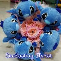 Bucket Stitch (i900) Buket Bunga Boneka Bouquet Wedding Wisuda Engaged