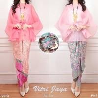 Setelan Baju Wanita Blouse Organza Peach - Pink