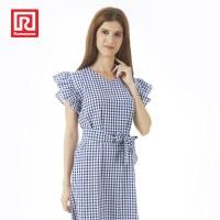 RAMAYANA - Dress Kotak Ruffle Biru (08001007)