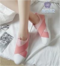 Sepatu Wanita Slip On Sport MX Pink - BS382