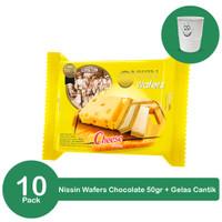 Nissin Wafers Cheese 50 gr 10 pcs x 50gr Plus Gelas Cantik