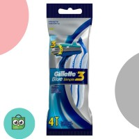 Gillette Blue Simple 3 (Isi 4x2) FREE Gillette Standee [P&G]