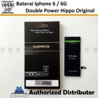 Baterai Hippo Double Power Original Apple Iphone 6 6G Batre Batrai Ori