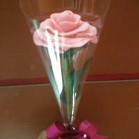 Souvenir bunga sabun mawar mekar wangi