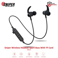 Sniper Wireless Headset Sport Bass With TF Card