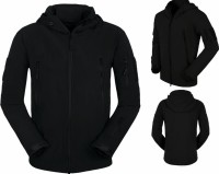 JAKET WATERPROOF BLACK SOFTSHELL TAD (POLOS)