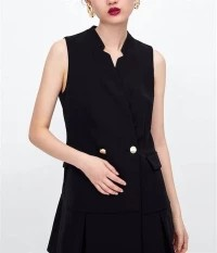 Black Double Breasted Blazer Dress Zara Wide Lapel Lookalike
