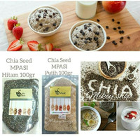 Chia Seed MPASI Hitam / Putih 100gr Premium Standard Organik