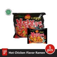 Samyang Green Hot Chicken Ramen Pack (140gr x 5pc)