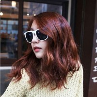 Kacamata Sunglass Wanita Model Retro Way farer Sunglasses White