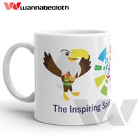 Mug Gelas Porcelain Souvenir Slogan Asian Para Games 2018 Indonesia