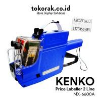PRICE LABELLER MX-6600A KENKO MESIN ALAT LABEL HARGA 2 BARIS